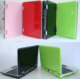 Wholesale 1PCS inch UMPC laptop with Wifi Windows CE OS five color Portable netbook Mini laptops Notebook