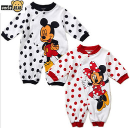 Wholesale Fashion baby romper artoon character design baby girl clothing bebes cotton baby boy rompers full sleeve baby clothes boys