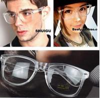 Wholesale fashion rivet clear frame unisex reading glasses