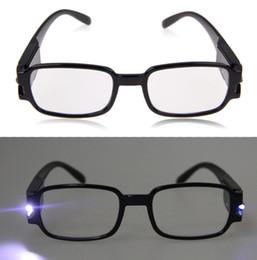 2017 à double lampe de lecture 1,0-4,0 multi Force Hommes Femmes Lunettes de lecture à double Led Eyeglass Spectacle dioptrique Magnifier Lumière UP 11-est bon marché à double lampe de lecture