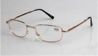bifocal progressive reading glasses - BIFOCAL progressive multifocal folding golden metal frame reading glasses
