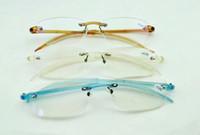 Wholesale Frameless Reading Glasses TR90 Memory Plastic Flexible Rimless Reader