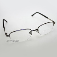 bifocal clear reading glasses - Half Rim Clear Lens Metal Frame Unisex New Portable Bifocal Reading Glasses