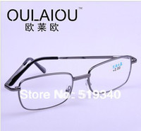 Wholesale Old Person golden Frame Presbyopic reading glasses magnifying glass unisex readers Drop shipping
