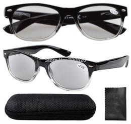 Vidrios del caminante en Línea-R011 Negro / envío libre gris bisagras de muelle de 80 Wayfarer gafas de lectura con el caso de los lectores gris lente de sol + ,50--4,00