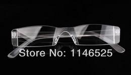 HOT Reading glasses rimless plastic +1.0 +1.5 +2.0 +2.5 +3.0 Clear reading glasses women and men +Glasses Case
