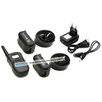 Wholesale Remote Pet Trainer Dog Training Collar for dogs with LV of Shock and Vibration Rechargeable amp Waterproof