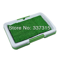 dog toilet - New Dog Puppy Potty Trainer Indoor Grass Patch Toilet Training Tray Pet Toilets Three Layers