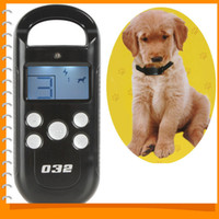 Wholesale LCD M Remote Control Pet Dog Training Collar amp Transmitter System Electric Dog Trainer Products with Shock Levels