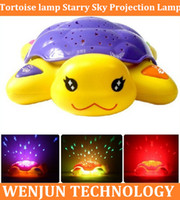 baby sleep machine - Early childhood story machine starry sky projection lamp the tortoise lamp baby sleeping lamp baby toys