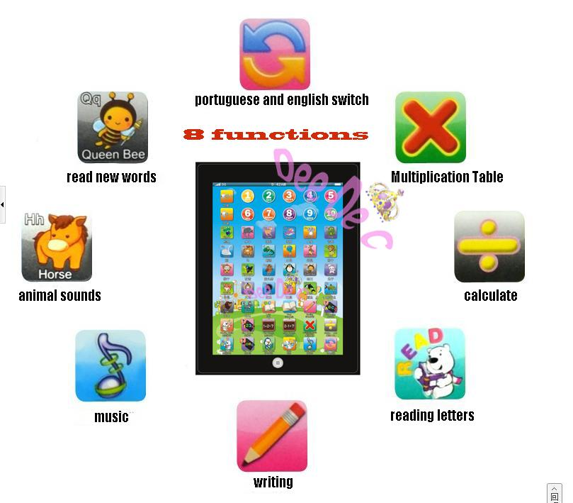 Portuguese Learning Toys : Best y pad children learning tablet kids education