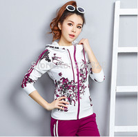 Wholesale New Spring Women s Tracksuits Sportswear Set Sports Suit For Girls Jogging Suits Costumes Female Print Runway Clothing