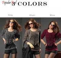 basic top pattern - Autumn Winter Pullovers Women Long Sleeve Basic Shirt Top Good Elastic Tree Pattern Rivet Bottoming Shirt