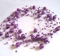 Wholesale M mm amp mm Purple Pearl Beaded Garland Wedding Bouquet Decoration Craft DIY