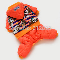 animal sweeties - New Winter Dog Tracksuit Pet Clothes Orange Sweetie Dog Winter Thick Jumpsuit Supplies For Puppy Animals Chihuahua Yorkshire DF2