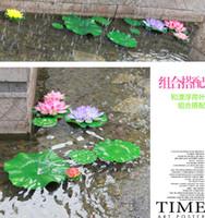 artificial fish pond - pieces simulation flower festival supplies lotus pond lily water Floating Pool Fish Tank aquarium Artificial Decoration