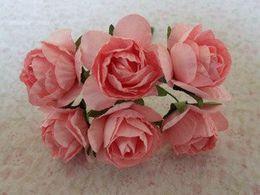 144pcs   lot colours Mulberry Paper Flower Bouquet wire stem Scrapbooking Flower simulation flowers sunflower f-021