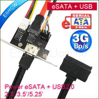Wholesale New Power eSATA E SATA USB PCIe Card HDD Adapter A826 D0242A