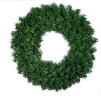 Wholesale 050752 Christmas decorative products green pine wreaths Home Furnishing hotel door hanging