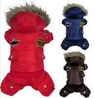 air free dog clothes - Dog clothes for Pet Clothes Dog warm Clothes Winter Thickening USA Air Force Design tracksuits