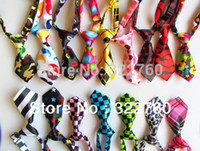 Wholesale Adjustable pet cat dog Bow necklace Tie Necktie Neck Collar Cute gift mix colours