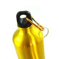 Wholesale Shinning Gold Portable Aluminum Stainless Steel Water Bottle Aluminum ml Sport Water Bottle Brand New