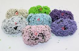 leeks flower White foam leeks flower with wire stem wedding handmade flowers(36 pcs  lot)