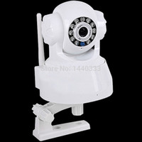 Wholesale 2015 New P2P Security Camera P2P Wireless WiFi Network IP Camera PTZ Night Vision Indoor Camera Recording Icloud Box K Pixels