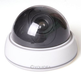 White Surveillance Water-proof fake Network Mini Dome dummy Camera Security LED Flashing Light Home Safe