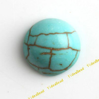 Natural turquoise beads - 100 Turquoise Beads Flatback Turquoise Gemstone Cabochon Beads Diy Bead Stone Beads mm