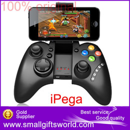 Joystick inalámbrico androide online-Venta al por mayor-PG-9021 iPega inalámbrico Bluetooth Game Game Joystick Gamepad controlador para Android / iOS MTK teléfono celular Tablet PC TV BOX