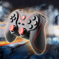 Tablette android rouge Avis-Bluetooth Wireless Controller Gamepad jeu à distance Joystick Noir Rouge Pour en gros intelligent Android Phone Samsung Tablet PC