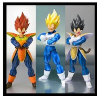 Wholesale in stock datong SHF Dragon Ball Z Dragonball battle SSJ SDCC scouter Vegeta action figure Super Saiyan black hair model toy gift