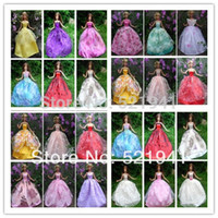 Wholesale Christmas Gifts For Children Girls Gift Doll Accessories items Dress Shoes Hangers Wedding Dress Clothes Gown For Barbie Doll