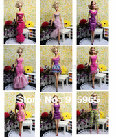 Wholesale 2015 new arrvial items dress shoes accessories Party Doll s evening Dress Clothes Gown For Barbie doll
