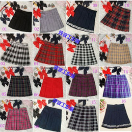FREE DELIVERY 2015new Preppy style japanese style school uniform plaid pleated skirt short skirt bust skirt