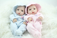 reborn baby doll - 11 Inches Full Vinyl Reborn Baby Doll A Couple Mini Reborn Baby Dolls For Sale Hobbies Twins Dolls For Kids Toys