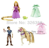 Cheap Free shipping Genuine fairy tale princess doll,Tangled,Rapunzel and Flynn Ryder's romantic stories,mini dolls for girls