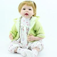 "Cheap NPK Reborn Baby Doll Realistic 22"" Soft Silicone Reborn Baby Girl Doll Pretty Kids Toy"