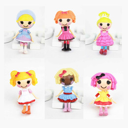 Wholesale 2015 hot plastic rag dolls cm mini MGA Lalaloopsy Doll girls Fantasy Educational toy american Movie amp TV Bitty Buttons Role