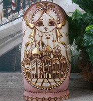 authentic russian dolls - 7Pcs Set Limited collection Handmade wooden Russian Nesting Dolls Authentic Matryoshka Traditional Christmas Gifts