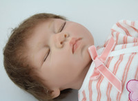 Cheap 22 inches baby dolls for kids simulation lifelike silicone vinyl reborn baby doll handmade collection toys