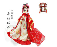 ancient tang dynasty - Novelty cm Kurhn Joint Body Dolls Chinese Ancient Bride Dolls Tang Dynasty Bride Best Fashion Dolls