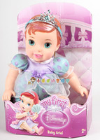 beauty and the beast doll - New Genuine baby princess doll Mermaid Ariel Cinderella Beauty and the Beast Belle dolls for girls