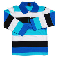 Wholesale Fall children long sleeves brand polo shirts camisas Strip Classical camisa polo infantil boy Girls kids100 cotton teenager boy