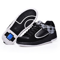 automatic shoes - Sneakers with wheels Ultra light WHEELYS for boy girl Automatic invisible button skate heelys roller shoes sneakers