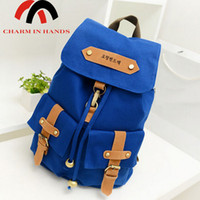backpack charms - Charm in hands Letter Printing women Backpack Canvas Korean Style Good Quality Mochila For Girl Cute School Bags LS5478