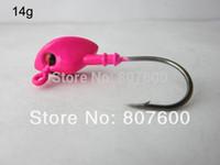 Cheap Crazy Fish - 8XFishing Live Bait Jig Lead Fish Jig Head Hook 14g Color Red