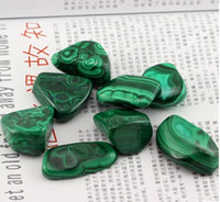Wholesale Natural malachite rough stone Malachite auspicious cloud pattern To ward off bad luck g