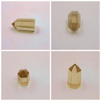 Cheap Wholesale-2015 Good quality jewelry low price the height of 3.5 cm thickness of 1.8 cm Natural Citrine QUARTZ crystal point freeshipping